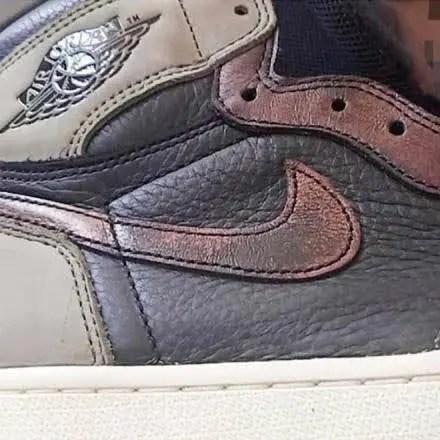 """ナイキ エア ジョーダン 1 レトロ ハイ OG """"フレッシュミント""""-Nike-Air-Jordan-1-Fresh-Mint-555088-033-logo-closeup"""