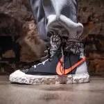レディメイド × ナイキ ブレーザー ミッド/ ブラック READYMADE-Nike-Blazer-Mid-Black-CZ3589-001-on-foot-2