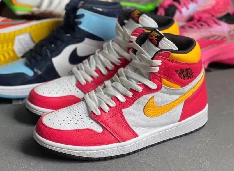 """ナイキ エア ジョーダン 1 ハイ OG """"ライト フュージョン レッド""""Nike-Air-Jordan-1-High-OG-Light-Fusion-Red-555088-603-detail"""