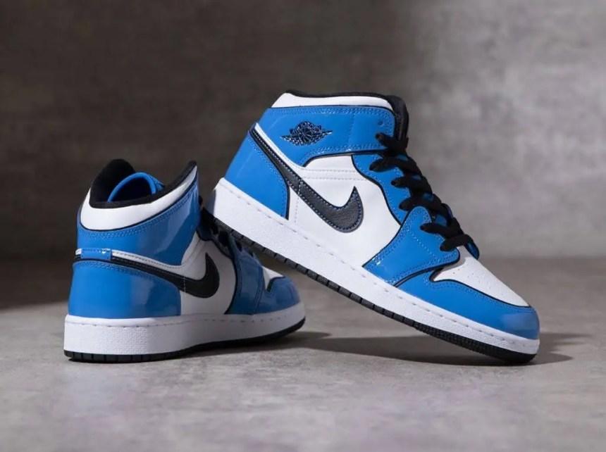 """ナイキ エア ジョーダン 1 ミッド """"シグナル ブルー"""" Nike-Air-Jordan-1-Mid-signal-blue-DD6834-402-main2"""