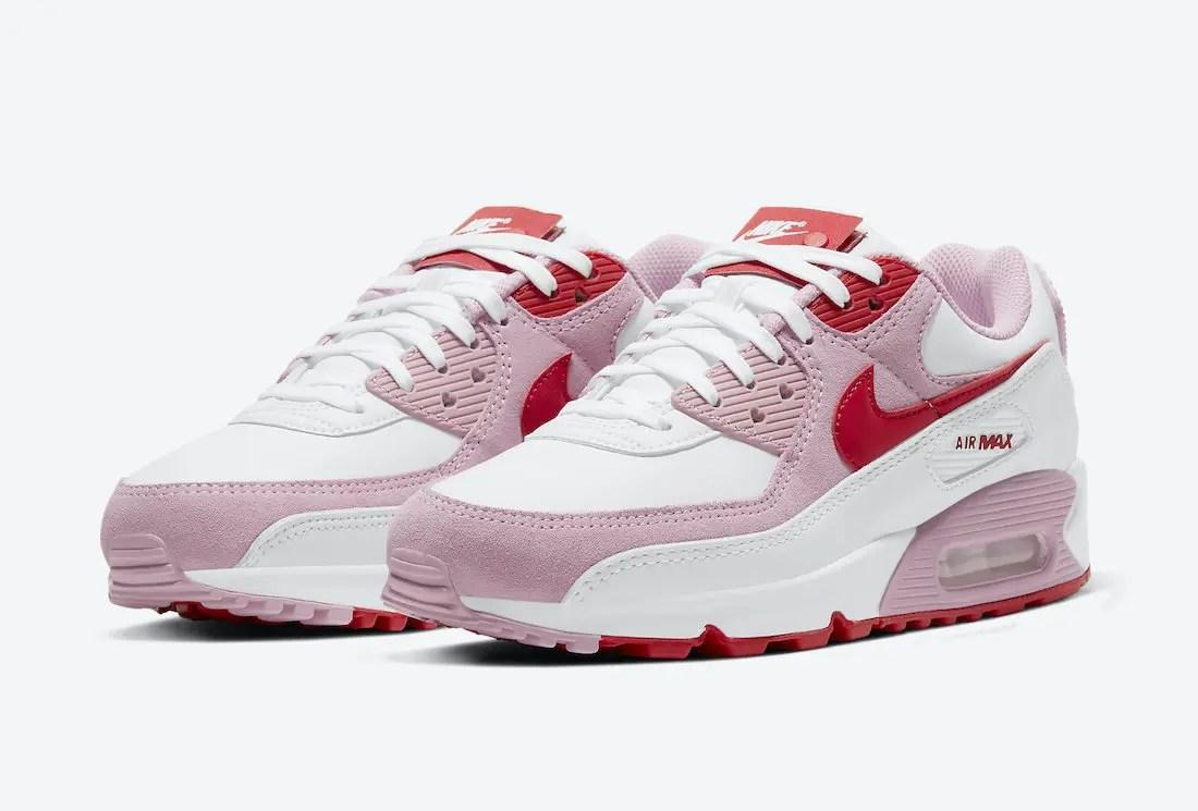 ナイキ エアマックス 90 バレンタイン スニーカー Nike-Air-Max-90-Valentines-Day-DD8029-100