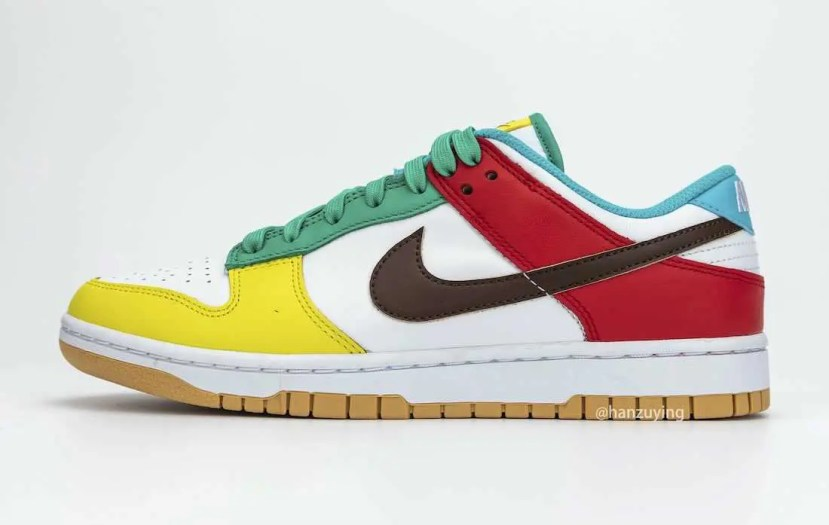 "Nike Dunk Low SE ""Free 99"" ナイキ ダンク ロー SE ""フリーナインティナイン"" White/ Light Chocolate-Roma Green DH0952-100 main detail pair"