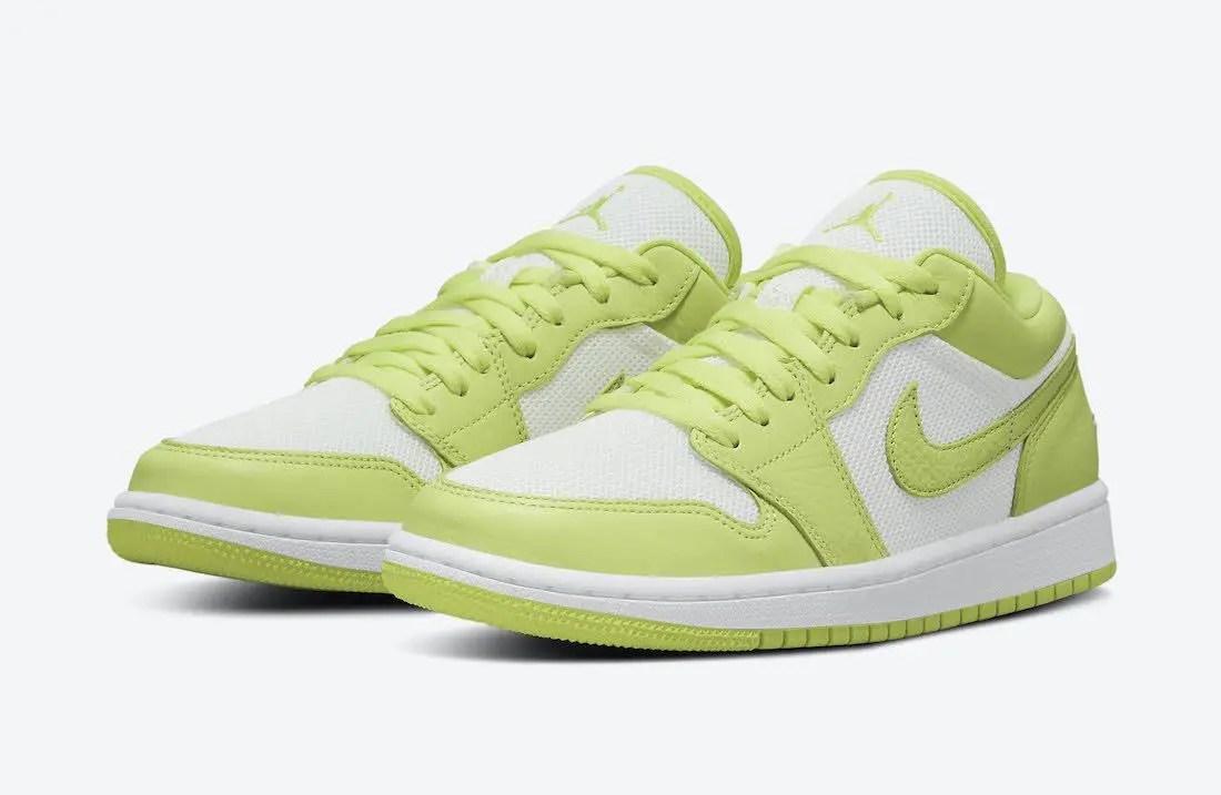 """ナイキ エア ジョーダン 1 ロー """"ライムライト"""" Nike-Air-Jordan-1-Low-Limelight-DH9619-103-pair"""