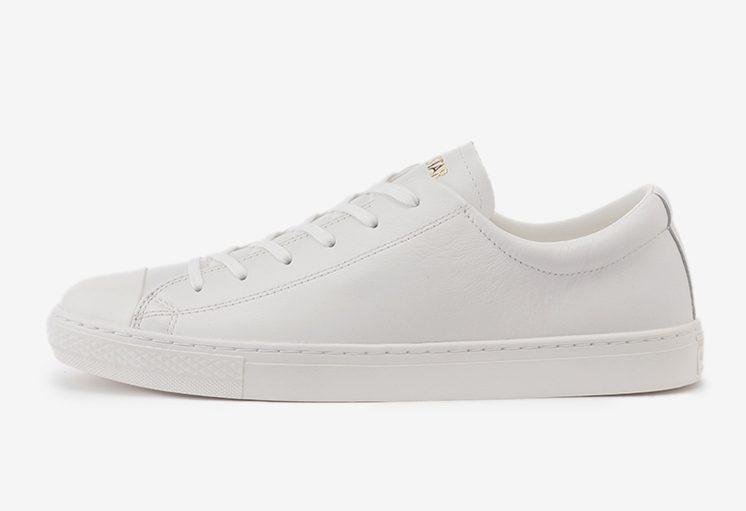 コンバース オールスター クップ オールホワイト 白 スニーカー Converse All Star Coupe All White Gold Logo