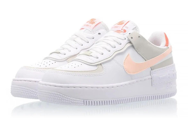 """ナイキ ウィメンズ エア フォース 1 シャドウ """"ブライト マンゴー"""" Nike-WMNS-Air-Force-1-Shadow-Bright-Mango-DH3896-100-pair-front-2"""