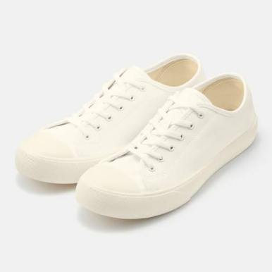 GU ジーユー クリーン キャンバス スニーカー ホワイト Clean-Canvas-Sneaker-white
