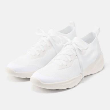 GU ジーユー ニット スニーカー ホワイト Knit-Sneakers-White 白 人気