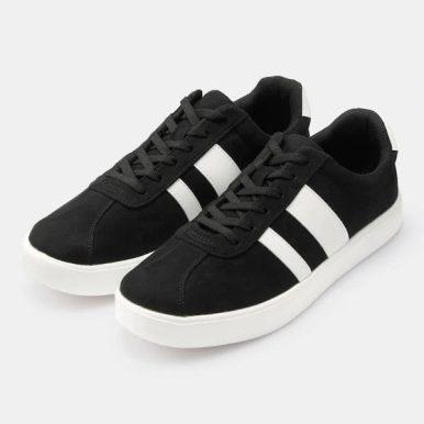 GU ジーユー ライト ソール スエード タッチ スニーカー ブラック Light-Sole-Suede-Touch-Sneaker-black