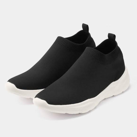GU ジーユー ニット スリッポン スニーカー ブラック Sneakers-Knit-Slip-on-Sneaker-E-Black