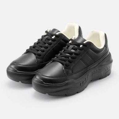GU ジーユー ボリューム ソール スニーカー ブラック Volume-Sole-Sneaker black 厚底