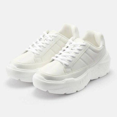 GU ジーユー ボリューム ソール スニーカー ホワイト Volume-Sole-Sneaker white 厚底