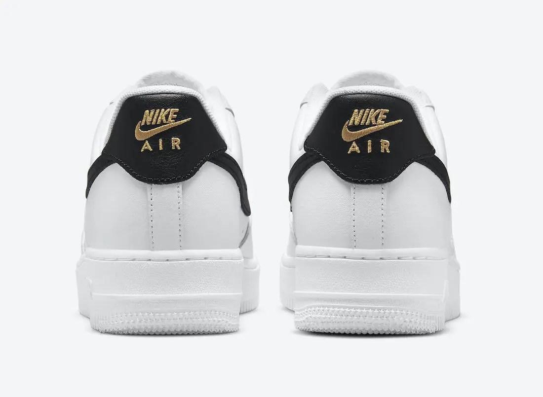 """ナイキ エア フォース 1 ロー """"ホワイト/ブラック/ゴールド"""" Nike-Air-Force-1-Low-White-Black-Gold-CZ0270-102-heel"""