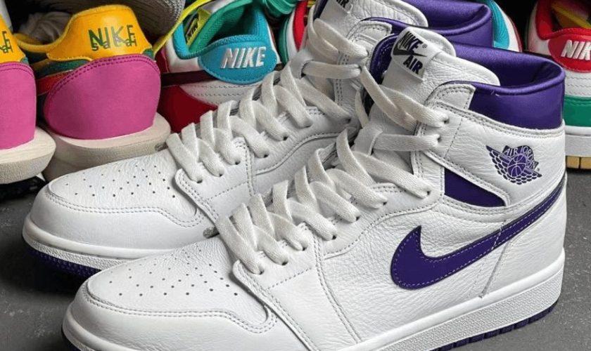 "nike Air Jordan 1 High ""Court Purple"" ナイキ ウィメンズ エア ジョーダン 1 ハイ ""コート パープル"" CU0449-151 detail new"
