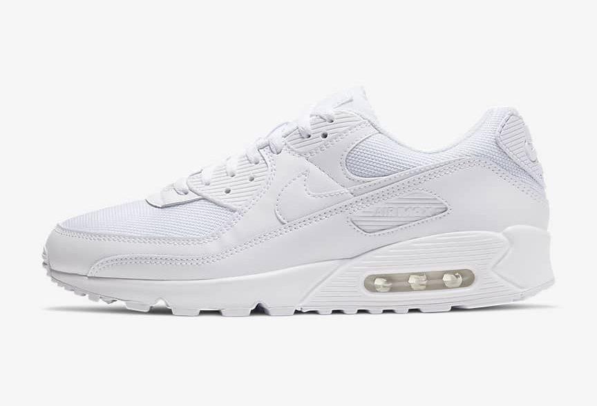 ナイキ エア マックス 90 白 ホワイト Nike Air Max 90 Womens All White Sneakers