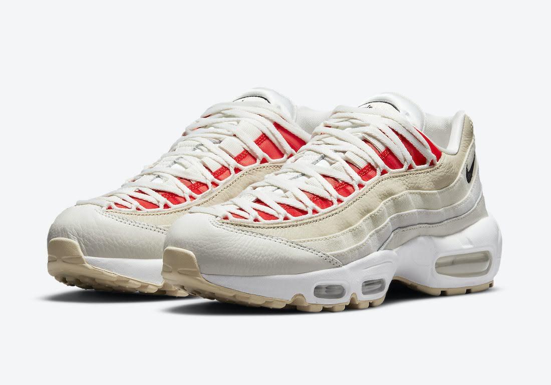 """ナイキ ウィメンズ エア マックス 95 """"ココナッツミルク"""" Nike-Air-Max-95-Coconut-Milk-DJ6903-100-pair"""