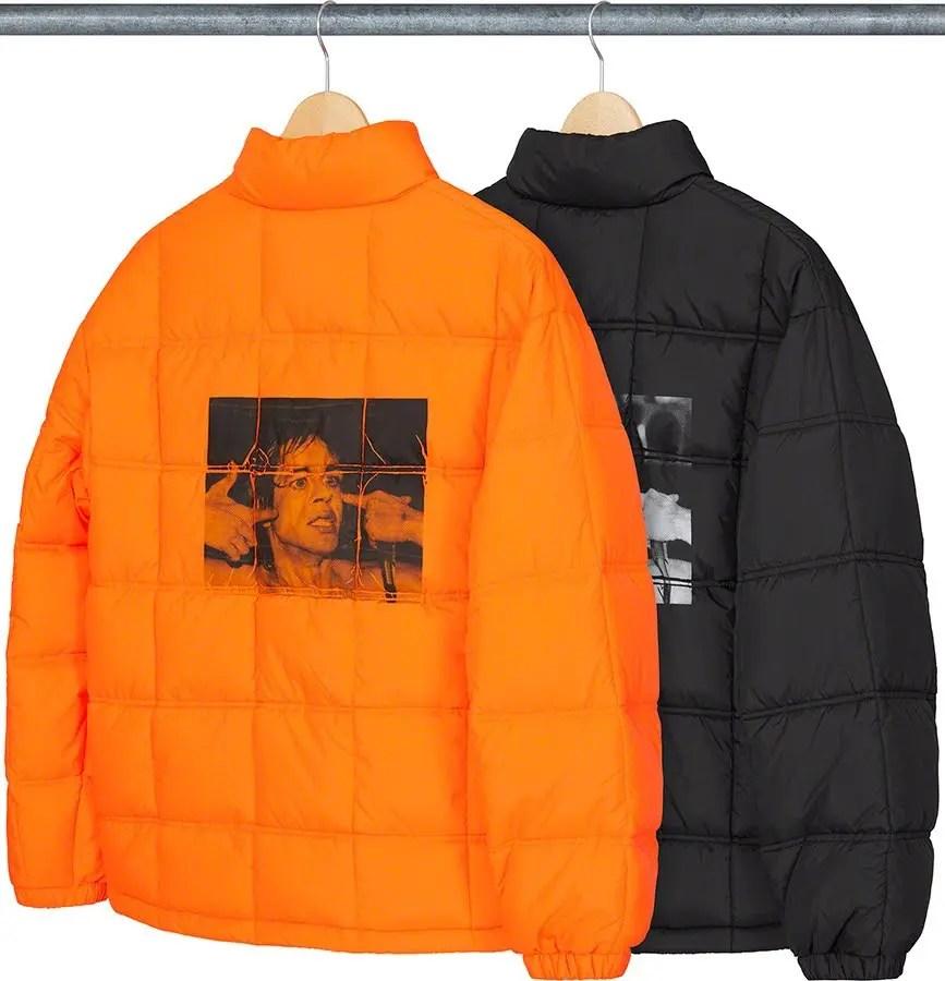 シュプリーム 2021年 春夏 新作 ジャケット Supreme 2021ss jacket 一覧 iggy-pop-puffy-jacket-back
