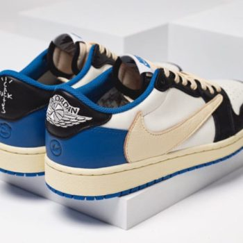 "Travis Scott × Fragment x Nike Air Jordan 1 Low OG ""UNC"" トラヴィス スコット × ナイキ エア ジョーダン 1 ロー OG ""UNC"" DM7866-140 detail pair"