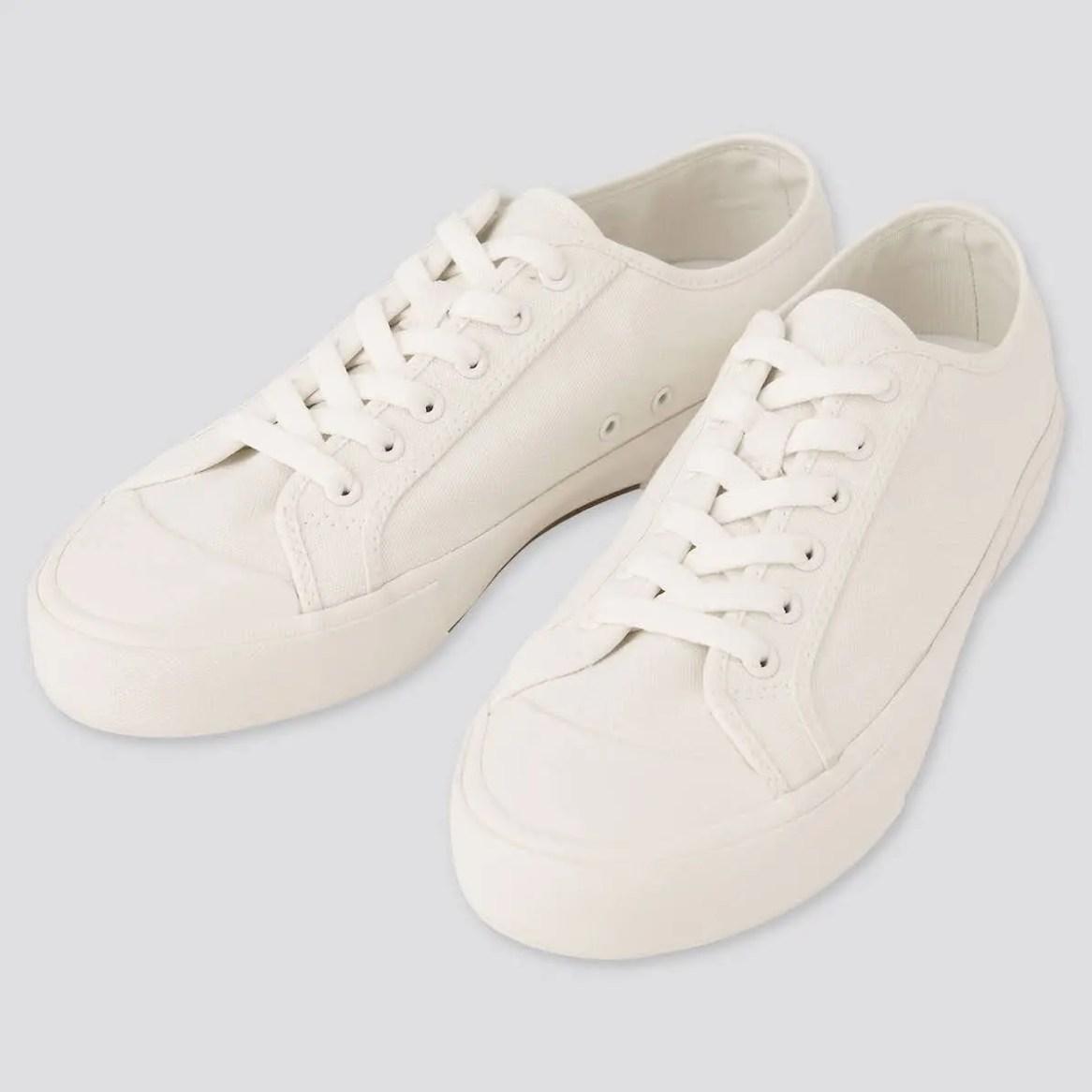 UNIQLO ユニクロ コットン キャンバス スニーカー オフホワイト cotton-canvas-sneaker-off-white