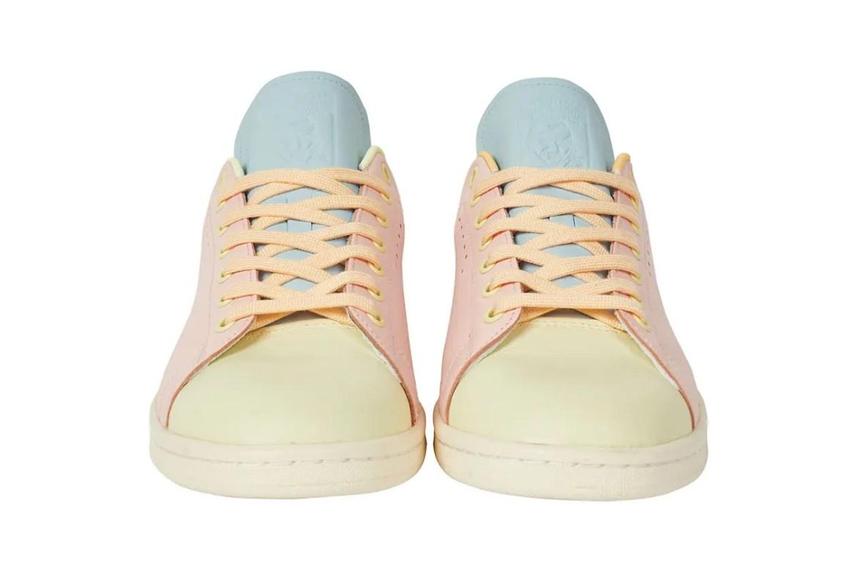 """パレス スケートボード × アディダス オリジナルス スタンスミス """"ハーゼ イエロー/ アイスピンク-アイスブルー"""" Palace-Skateboards-adidas-Originals-Stan-Smith-Hase-Yellow-Ice-Pink-Ice-Blue-pair-front"""