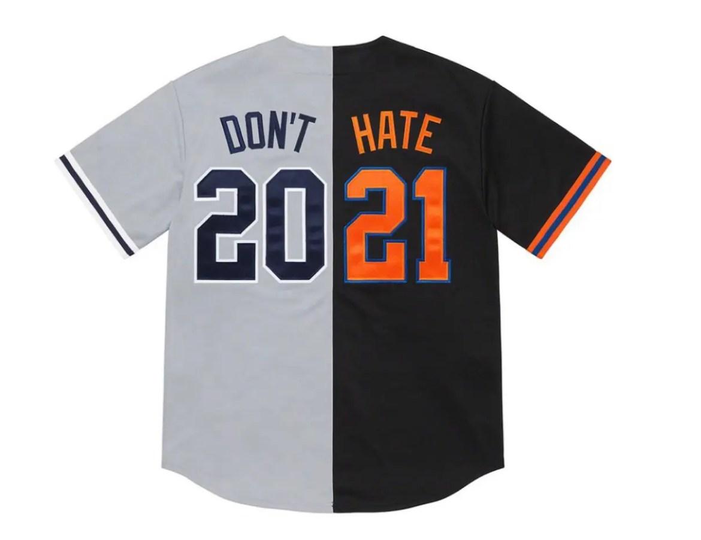 Don't Hate Baseball Jerseyシュプリーム 2021年 春夏 新作 Supreme-2021ss-week-1