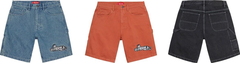 シュプリーム 2021年 春夏 新作 パンツ ショーツ Supreme 2021ss pants shorts 一覧 Handstyle Denim Painter Short