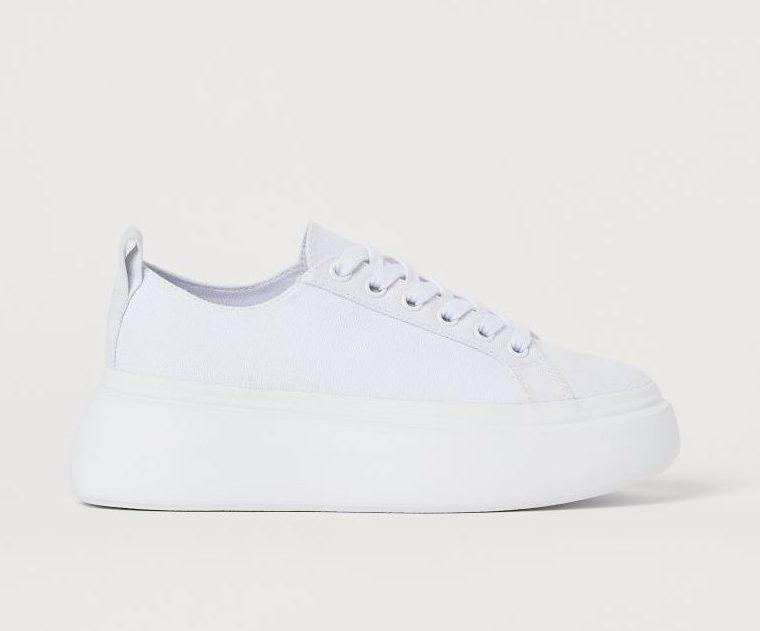 H&M プラットフォーム スニーカー ホワイト 厚底 白 Platform Sneaker White
