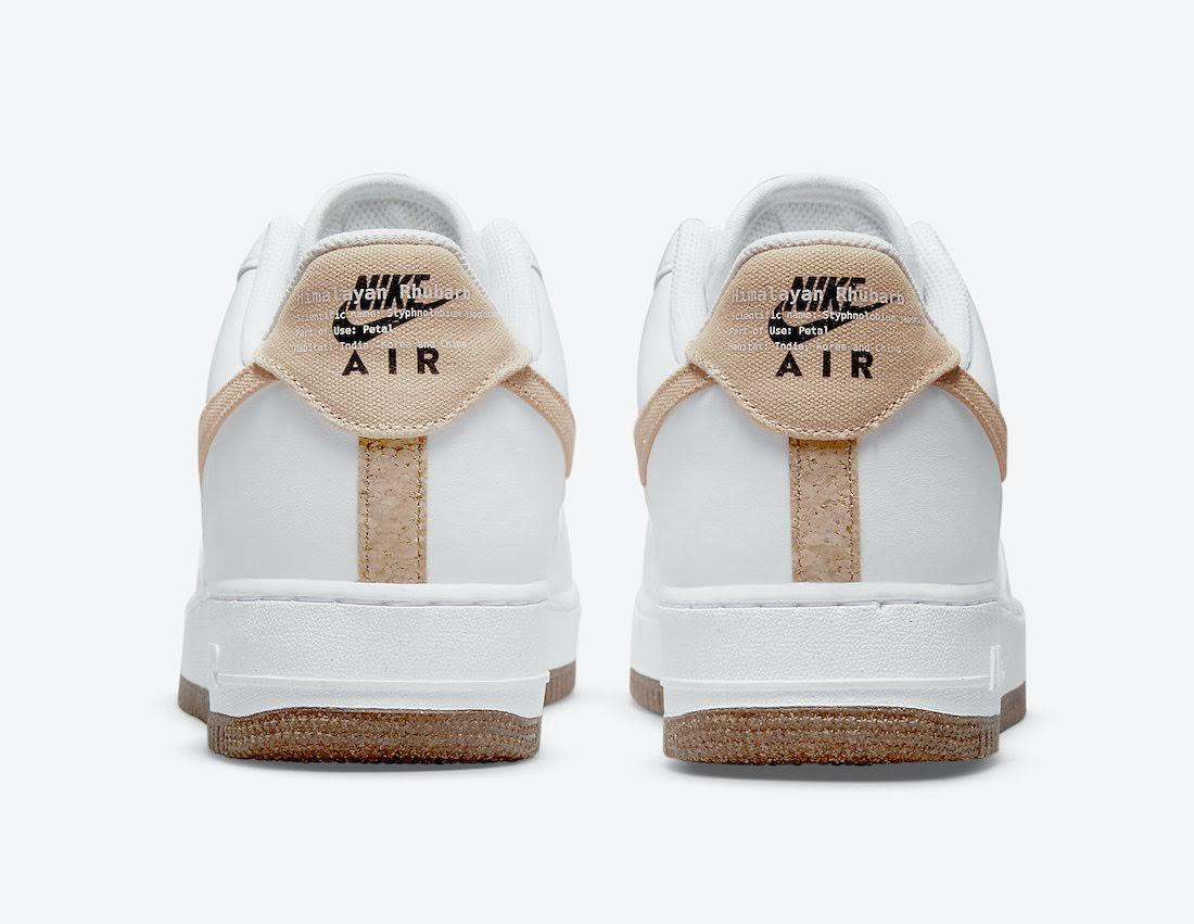 """ナイキ エア フォース 1 """"ルバーブ"""" Nike-Air-Force-1-Low-Rhubarb-CZ0338-101-heel"""