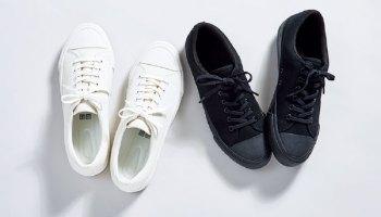 ユニクロ キャンバス スニーカー ホワイト ブラック 白 黒 Uniqlo Canvas Sneaker White Black
