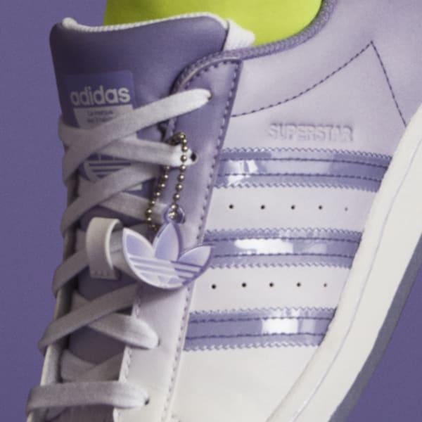 """アディダス ウィメンズ オリジナルス スーパースター """"ライト パープル"""" adidas_Superstar_wmns_light-purple_GW2936-tag-chain"""