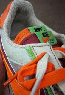 CLOT × SACAI × NIKE LDWAFFLE クロット × サカイ × ナイキ LDワッフル Net/Orange Blaze-Deep Red-Green Bean detail