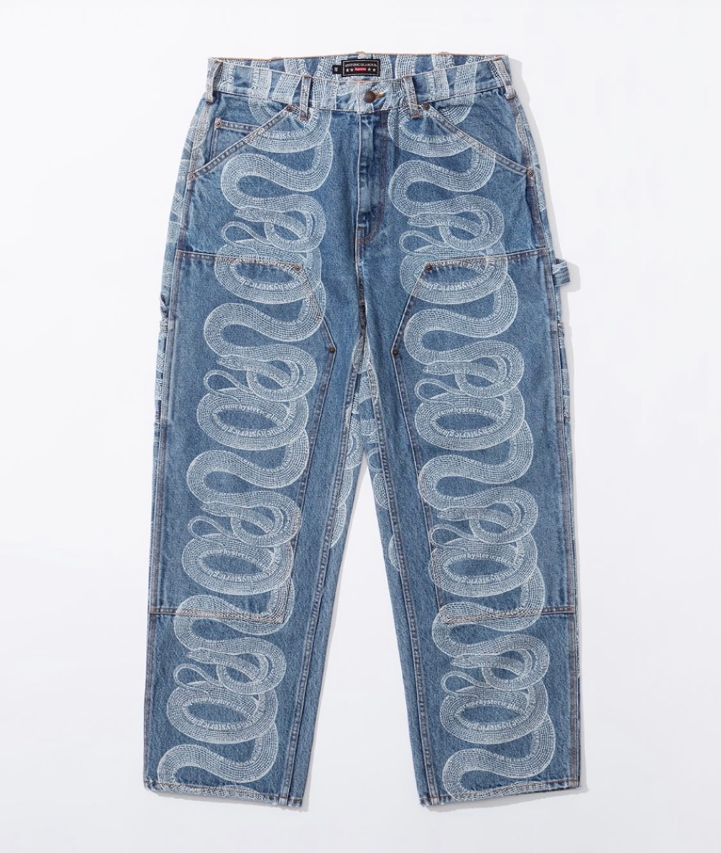 supreme 2021ss シュプリーム 2021春夏 week4 ヒステリックグラマー Supreme®/HYSTERIC GLAMOUR Snake Double Knee Denim Painter
