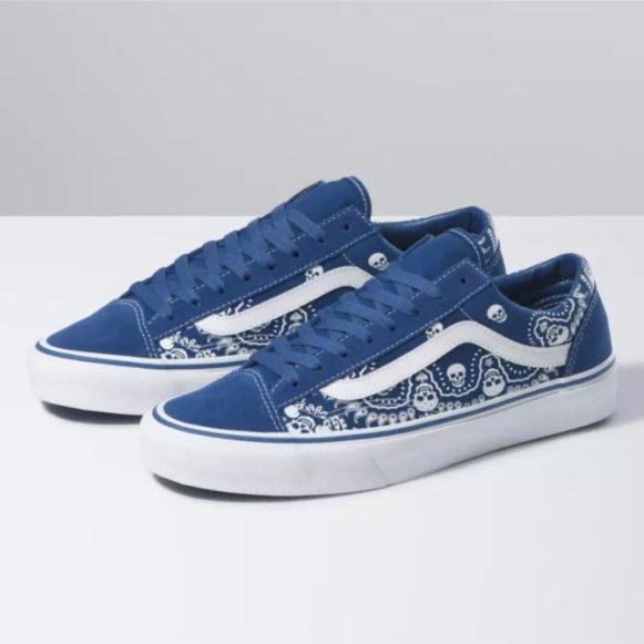"""ヴァンズ """"バンダナ"""" スタイル 36 vans-style-36-blue-pair"""