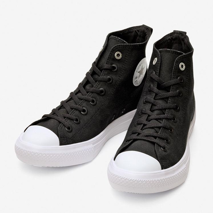 コンバース オールスター ライト ストレッチキャンバス HI/ ブラック converse-all-star-loght-stretchcanvas-hi-black-31304061-pair-front