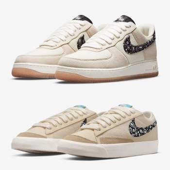 """""""Paisely""""のNike Air Force 1 & Blazer Low"""