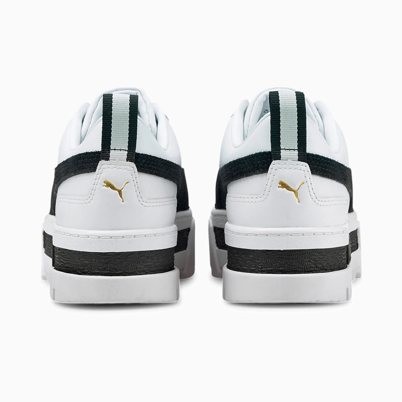 プーマ ウィメンズ メイズ レザー (ブラック) puma-wmns-maze-leather-black-381983-01-heel