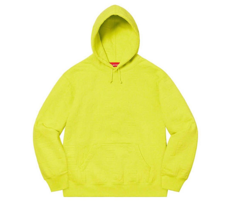 supreme 2021ss シュプリーム 2021春夏 week8Embossed Logos Hooded Sweatshirt