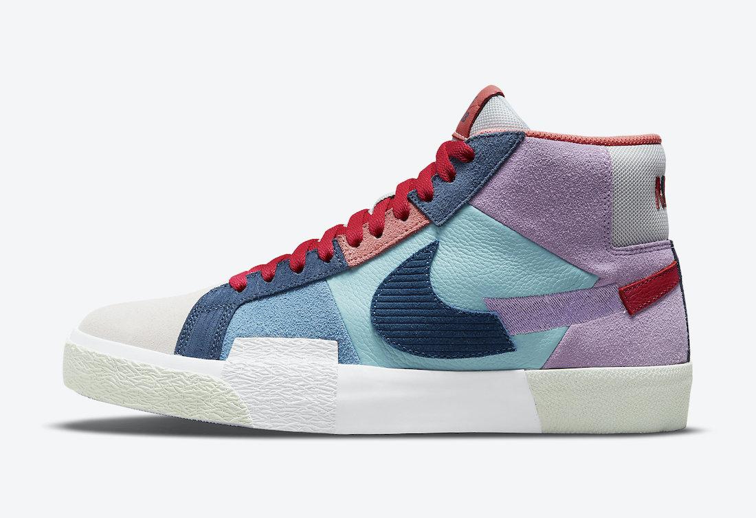 """ナイキ ブレーザー ミッド """"モザイクパック"""" (マルチカラー) Nike-SB-Blazer-Mid-Mosaic-Pack-Multi-Color-DA8854-500-side"""