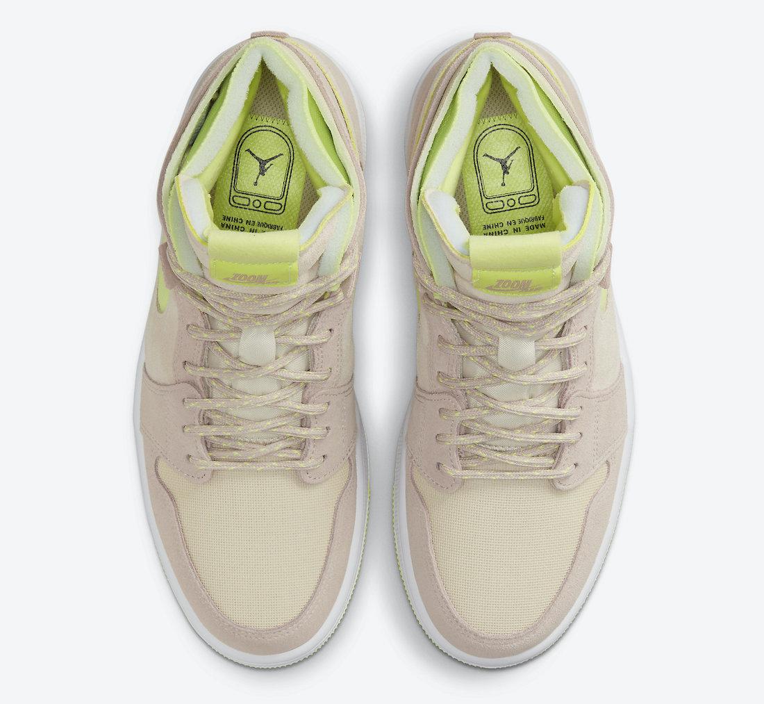 """ナイキ ウィメンズ エア ジョーダン 1 ズーム CMFT """"レモンツイスト"""" Nike-WMNS-Air-Jordan-1-Zoom-CMFT-Lemon-Twist-CT0979-200-top"""