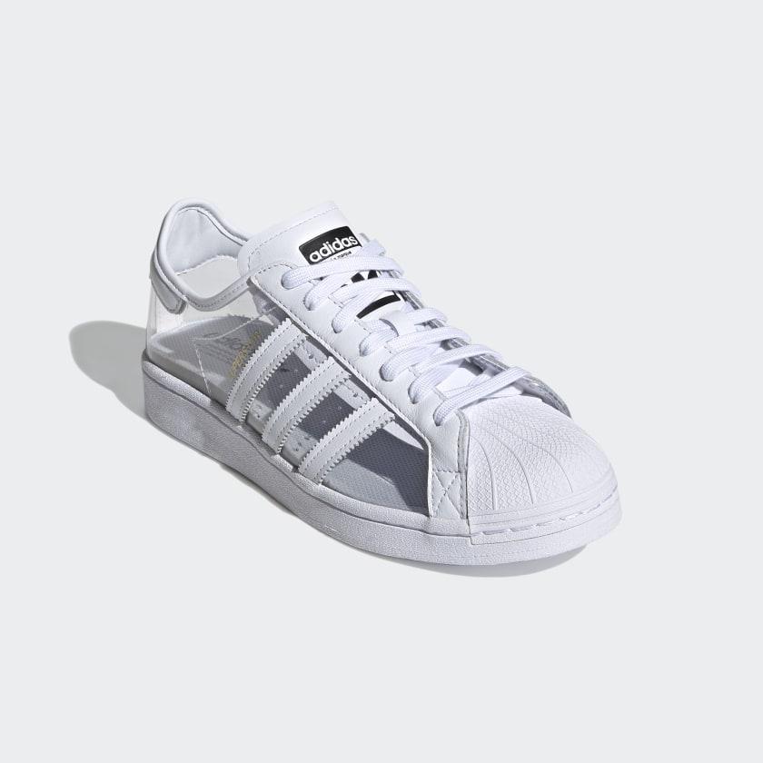 """アディダス オリジナルス スーパースター """"クリアホワイト"""" adidas_Superstar_ClearWhite_FZ0245_front"""
