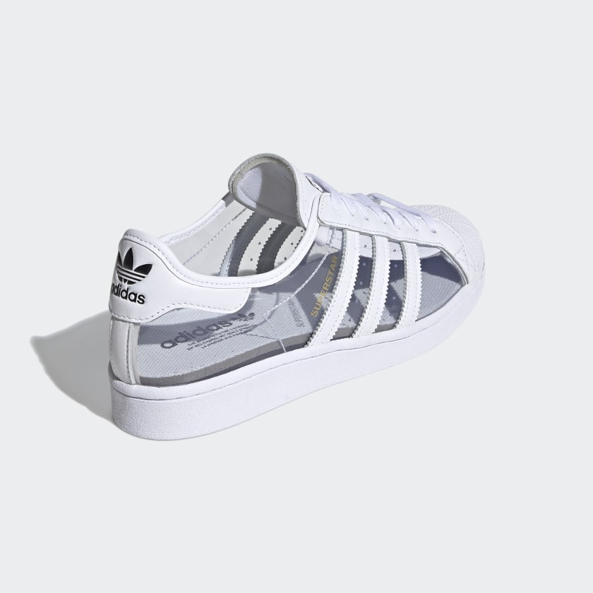 """アディダス オリジナルス スーパースター """"クリアホワイト"""" adidas_Superstar_ClearWhite_FZ0245_back"""