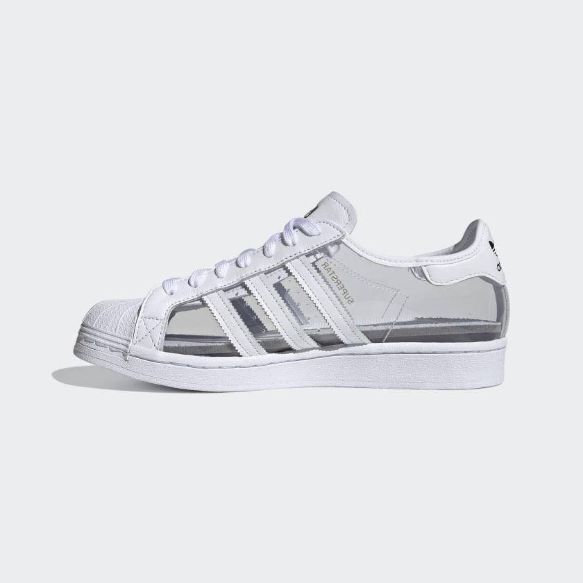 """アディダス オリジナルス スーパースター """"クリアホワイト"""" adidas_Superstar_ClearWhite_FZ0245_side-2"""