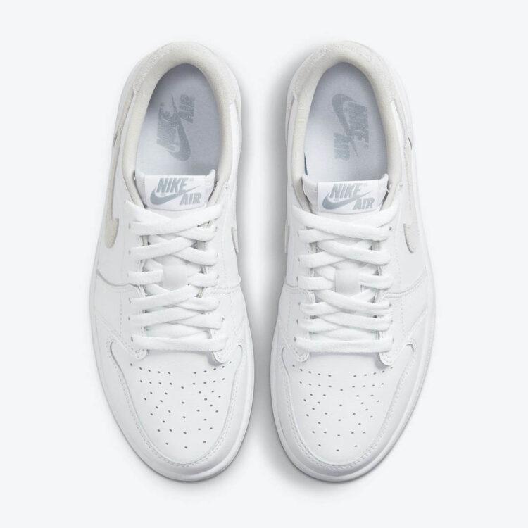 """ナイキ ウィメンズ エア ジョーダン 1 レトロ ロー OG """"ニュートラル グレー"""" Nike-Air-Jordan-1-Low-OG-Neutral-Grey-CZ0775-100-top"""