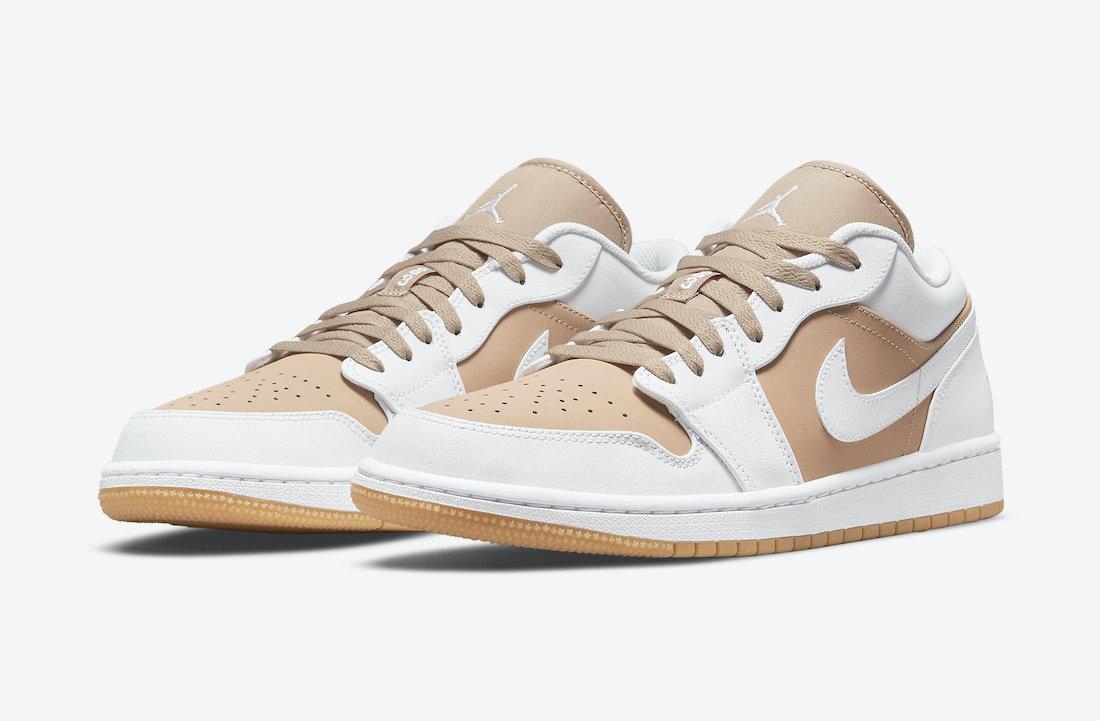"""ナイキ エア ジョーダン 1 ロー """"ホワイト / タン"""" Nike-Air-Jordan-1-Low-White-Tan-DN6999-100-pair"""