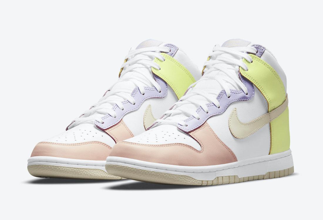 """ナイキ ウィメンズ ダンク ハイ """"カシミア"""" Nike-WMNS-Dunk-High-Cashmere-DD1869-108-side main"""