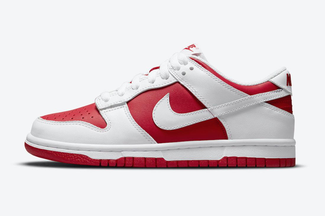 """ナイキ ダンク ロー """"ユニバーシティー レッド"""" GS Nike-Dunk-Low-GS-University-Red-CW1590-600-side"""