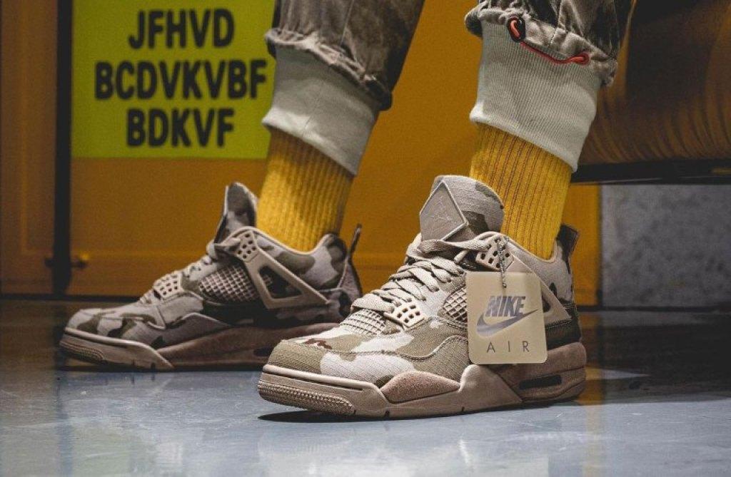 アレイリメイ ナイキ エア ジョーダン 4 コラボ 着用画像 Aleali-May-Air-Jordan-4-Camo-Veterans-Day-DJ1193-200-On-Feet-01