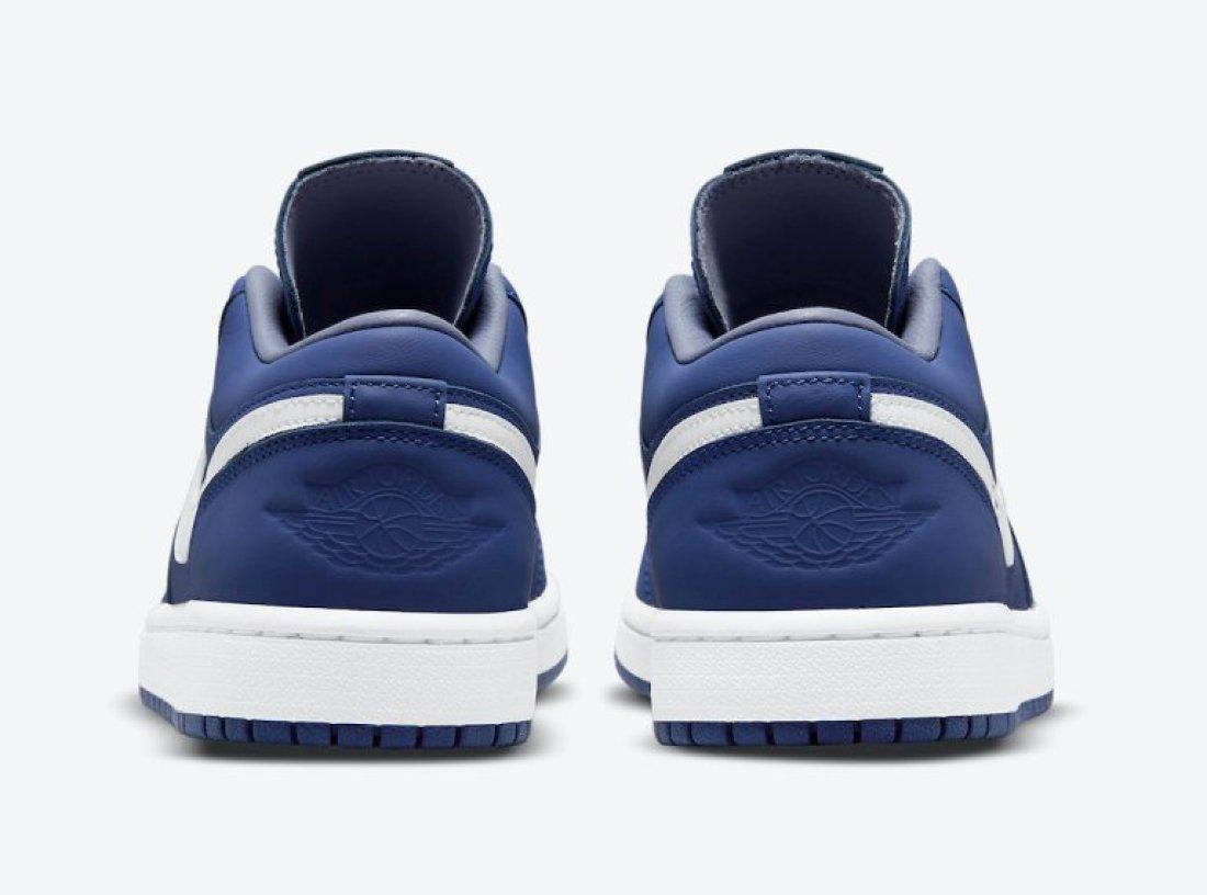 """ナイキ ウィメンズ エア ジョーダン 1 ロー """"ディープ ロイヤル"""" Nike-WMNS-Air-Jordan-1-Low-Deep-Royal-DA8008-401-heel"""