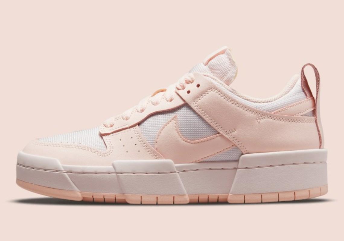 """ナイキ ウィメンズダンク ロー ディスラプト """"ベアリー ローズ"""" Nike-WMNS-Dunk-Low-Disrupt-Barely-rose-CK6654-602-side"""