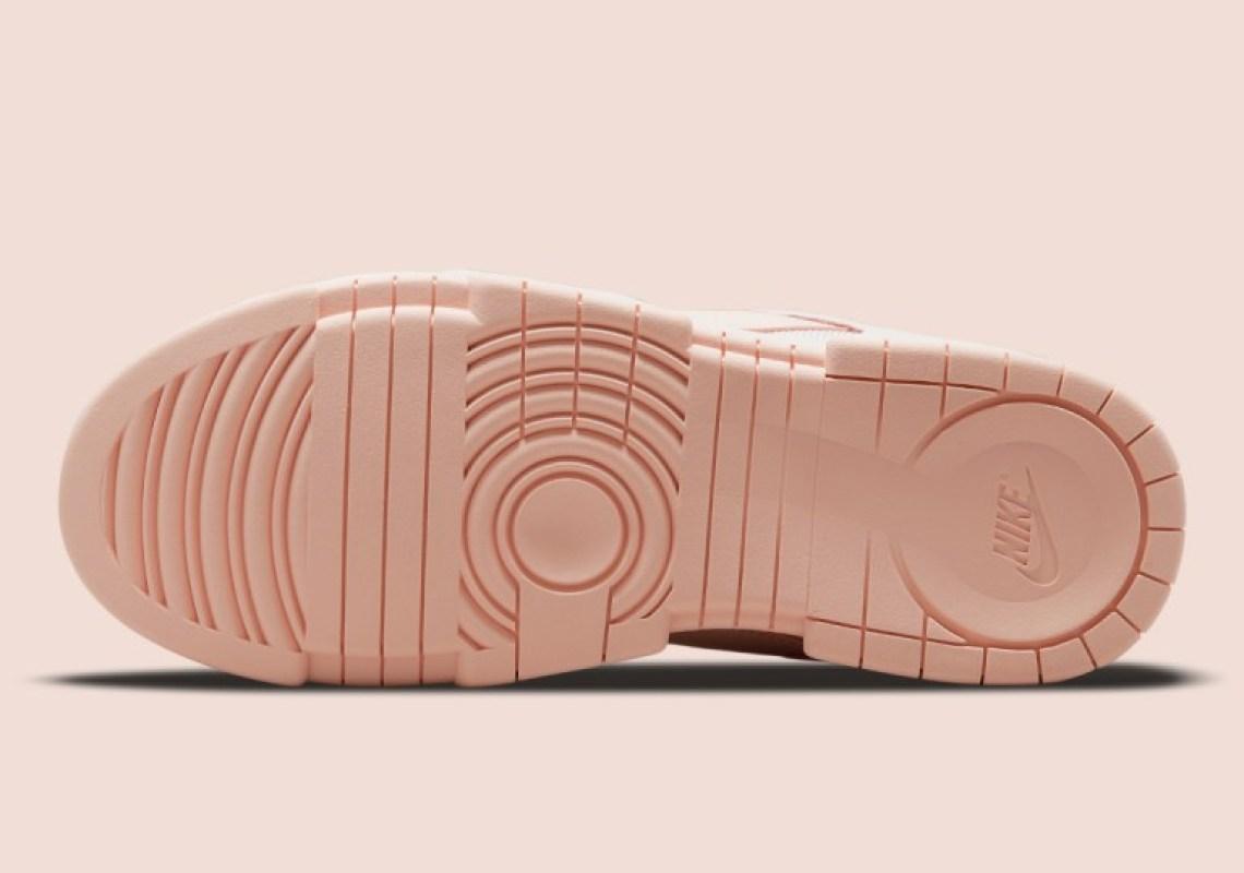 """ナイキ ウィメンズダンク ロー ディスラプト """"ベアリー ローズ"""" Nike-WMNS-Dunk-Low-Disrupt-Barely-rose-CK6654-602-sole"""