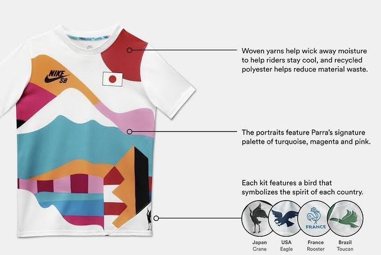 ナイキ SB パラ オリンピック エクスクルーシブ Tシャツ nike-sb-parra-olympic-exclusive-tee-2021-detail